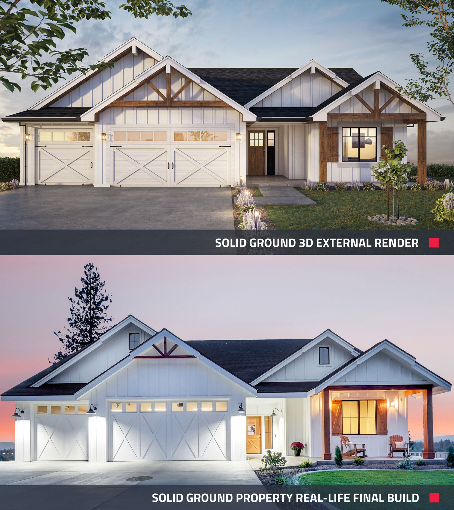 a view of a 3d rendering for real estate