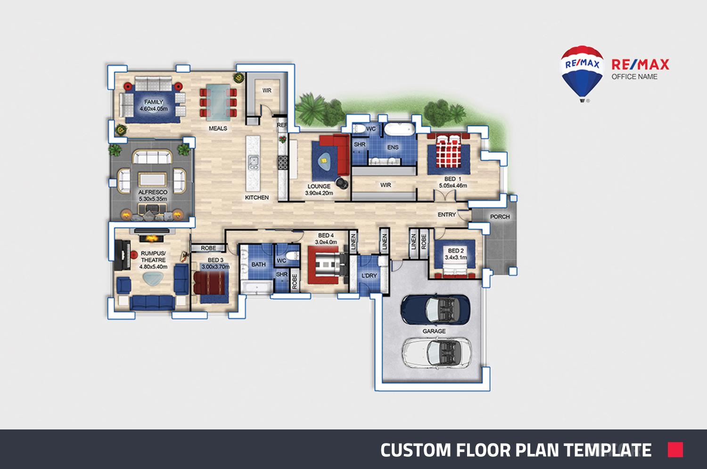 custom floor plan overview